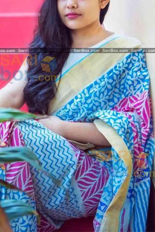 "Alluring Light Blue Colored Designer Soft Silk Festivewear Saree - CD249  30"""