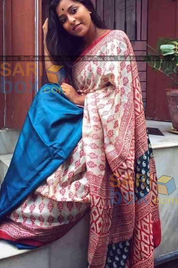 "Hypnotic Multi Colored Designer Soft Silk Festivewear Saree - CD252  30"""