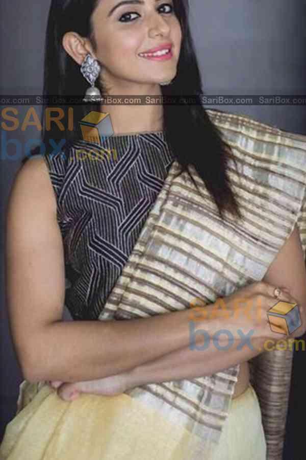 "Appealing Cream Colored Designer Soft Silk Festivewear Saree - CD259  30"""