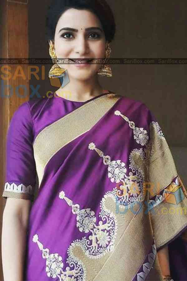 Phenomenal Violet Colored Designer Soft Silk Festivewear Saree - CD260  30""