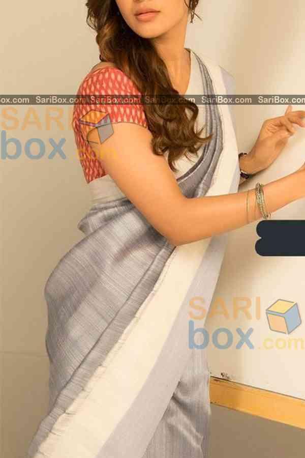 "Flattering Grey Colored Designer Soft Silk Navratri Special Saree - CD261  30"""