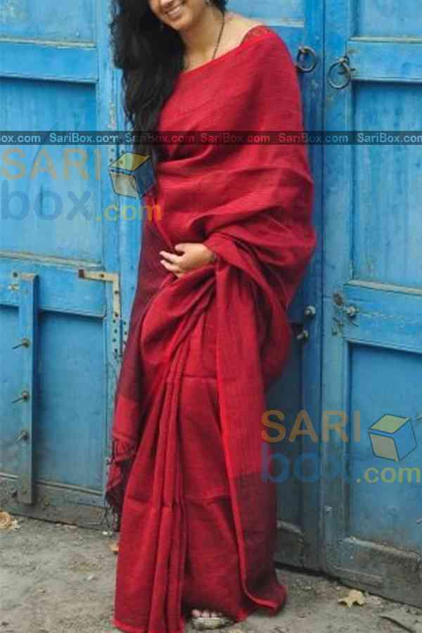 Groovy Red Colored Designer Soft Silk Navratri Special Saree - CD264  30""