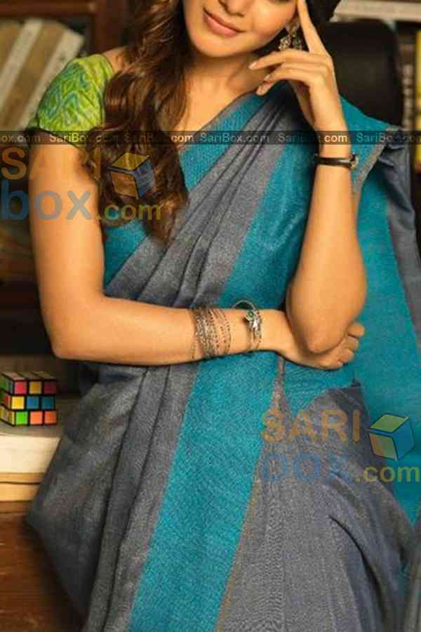 Impressive Grey Colored Designer Soft Silk Navratri Special Saree - CD266  30""