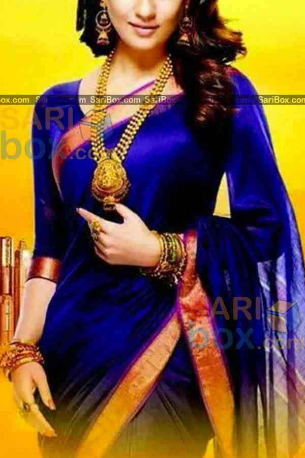 Graceful Blue Colored Designer Soft Silk Navratri Special Saree - CD269  30""