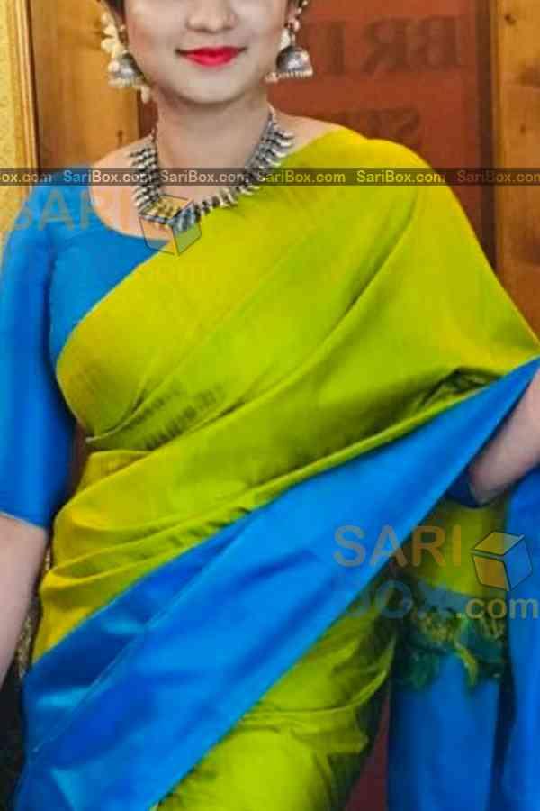 "Amazing Green Colored Designer Soft Silk Navratri Special Saree - CD271  30"""