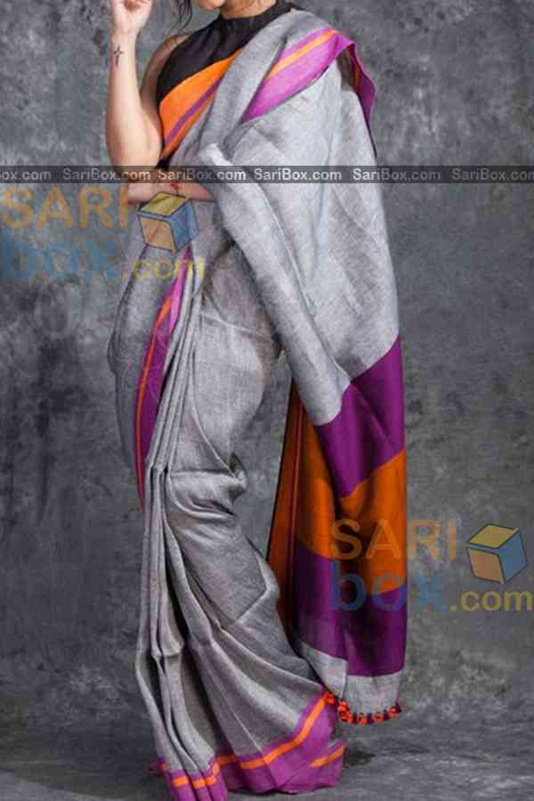 "Stylish Multi Colored Designer Soft Silk Navratri Special Saree - CD272  30"""