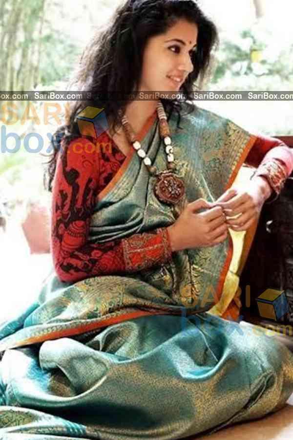 "Refreshing Multi Colored Karwa Chauth Special Soft Silk Festive Wear Saree - CD336  30"""