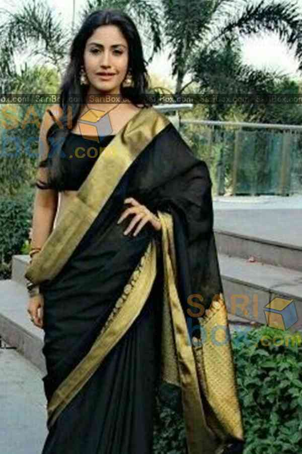 "Eye-Catching Black Colored Karwa Chauth Special Soft Silk Festive Wear Saree - CD345  30"""