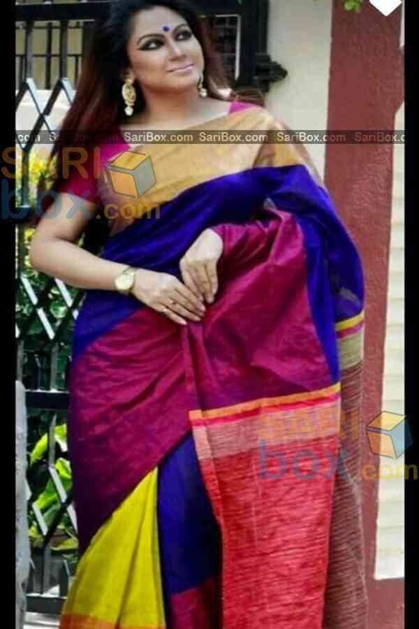 "Elegant Multi Colored Karwa Chauth Special Soft Silk Festive Wear Saree - CD350  30"""