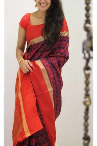 "Refreshing Red Color Soft Silk Designer Sarees - SB1196  30"""