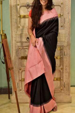 "Mind Blowing Black Color Soft Silk Designer Sarees - SB1299  30"""