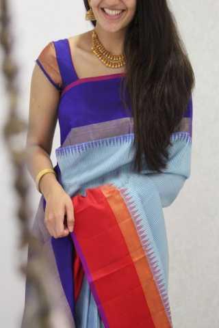 """Ethnic Multi Color Soft Silk Designer Sarees - SB1308  30"""""""