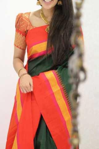 "Modish Multi Color Soft Silk Designer Sarees - SB1313  30"""