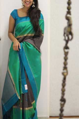 Graceful Green Color Soft Silk Designer Sarees - SB1314  30""