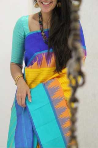 "Royal Multi Color Soft Silk Designer Sarees - SB1319  30"""