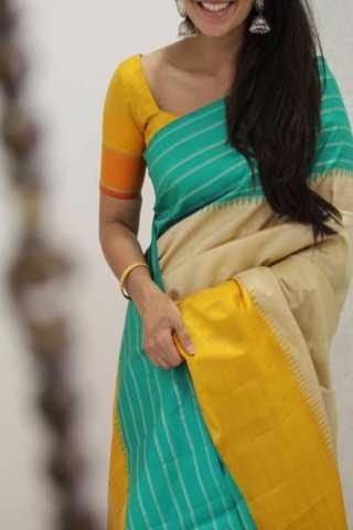 "Royal Multi Color Soft Silk Designer Sarees - SB1320  30"""