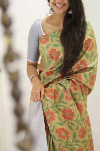 "Royal Multi Color Soft Silk Designer Sarees - SB1322  30"""