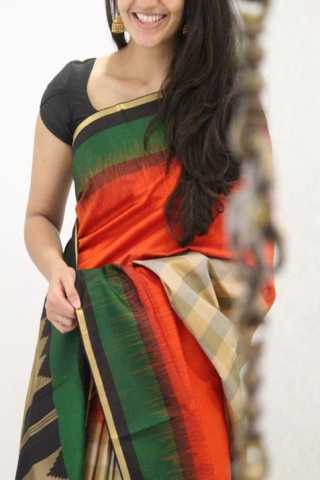 Royal Multi Color Soft Silk Designer Sarees - SB1323  30""