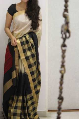 Royal Black Color Soft Silk Designer Sarees - SB1324  30""