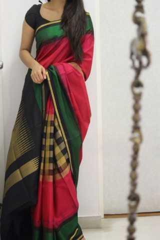 "Royal Multi Color Soft Silk Designer Sarees - SB1326  30"""