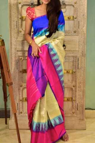 """Classic Multi Color Soft Silk Designer Sarees - SB1332  30"""""""