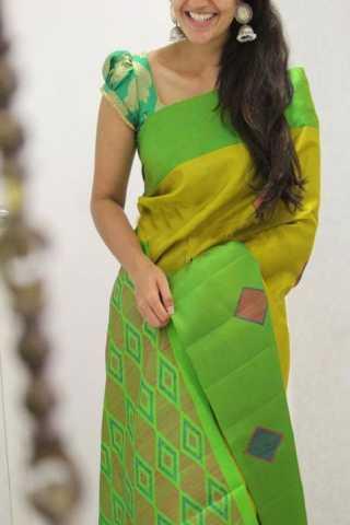 "Classic Green Color Soft Silk Designer Sarees - SB1333  30"""