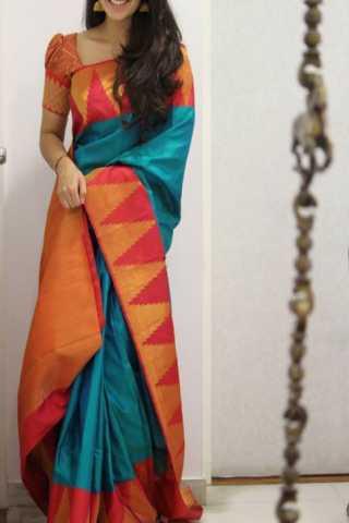 """Classic multi Color Soft Silk Designer Sarees - SB1338  30"""""""