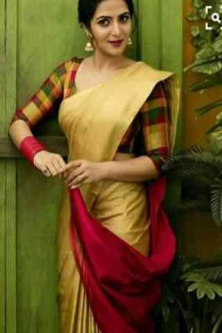 """Unique Beige Color Soft Silk Designer Sarees - SB703  30"""""""