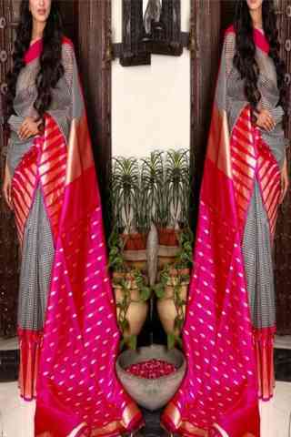 "Eye Catching Multi Color Soft Silk Designer Sarees - SB709  30"""