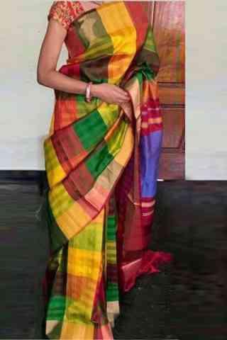 """Artistic Multi Color Soft Silk Designer Sarees - SB713  30"""""""