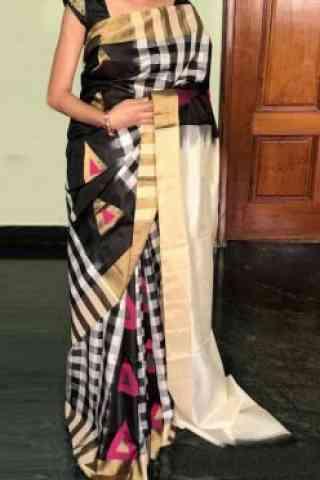 """Blooming  Multi Color Soft Silk Designer Sarees - SB714  30"""""""