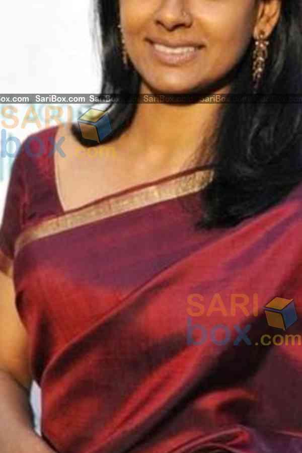 """Pretty Maroon Colored Designer Soft Silk Navratri Special Saree - CD275  30"""""""