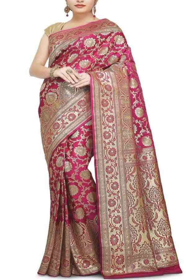 """Extraordinary Pink Colored Traditional Soft Silk Festive Wear Saree - CD286  30"""""""