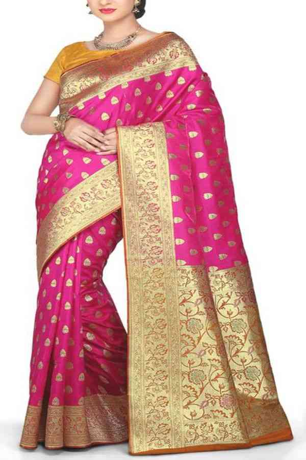 Deserving Pink Colored Traditional Soft Silk Festive Wear Saree - CD288  30""