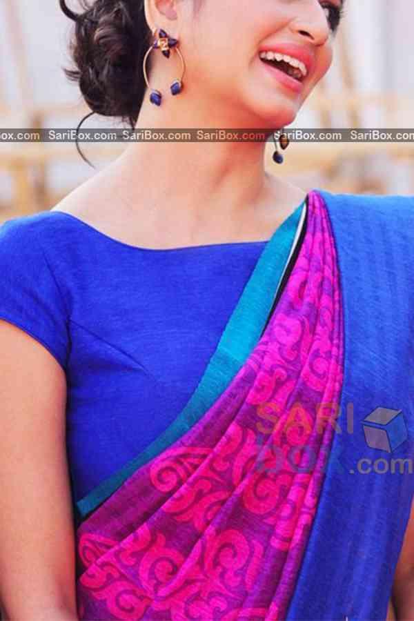 "Unique Pink Colored Traditional Soft Silk Festive Wear Saree - CD308  30"""