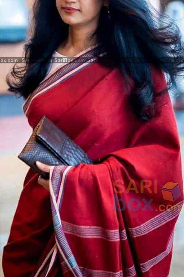Extraordinary Red Colored Traditional Soft Silk Festive Wear Saree - CD310  30""