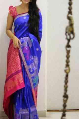 """Blooming Multi Color Soft Silk Designer Sarees - SB1001  30"""""""