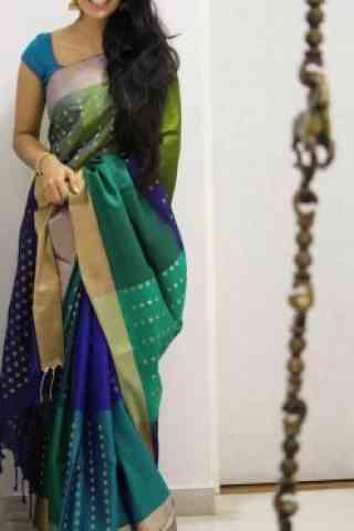 """Blooming Multi Color Soft Silk Designer Sarees - SB1003  30"""""""