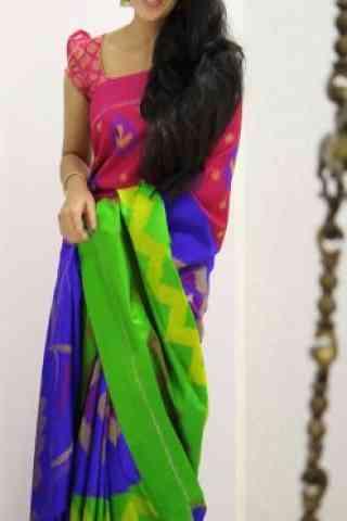 """Blooming Multi Color Soft Silk Designer Sarees - SB1004  30"""""""