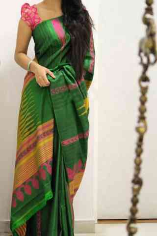 Dashing Green Color Soft Silk Designer Sarees - SB1011  30""