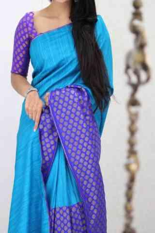 """Charming Blue Color Soft Silk Designer Sarees - SB1013  30"""""""