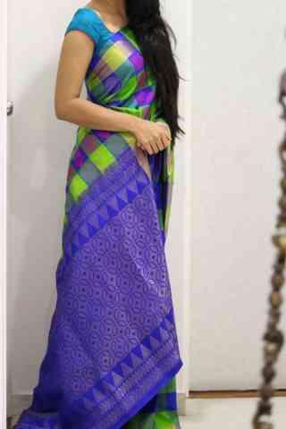 "Charming Multi Color Soft Silk Designer Sarees - SB1015  30"""