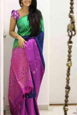 """Divine Multi Color Soft Silk Designer Sarees - SB1028  30"""""""