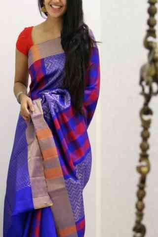 """Exquisite  Violet Color Soft Silk Designer Sarees - SB1030  30"""""""