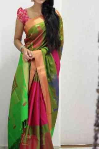 """Exquisite Multi Color Soft Silk Designer Sarees - SB1031  30"""""""