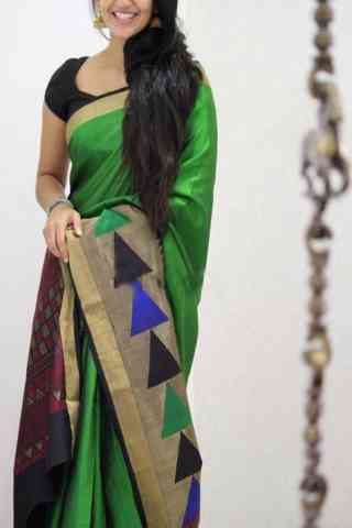 Refreshing Green Color Soft Silk Designer Sarees - SB1034  30""