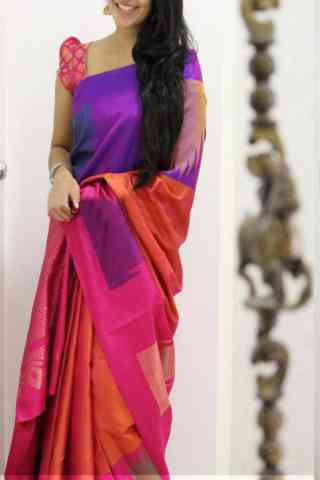 Modish Multi Color Soft Silk Designer Sarees - SB1040  30""