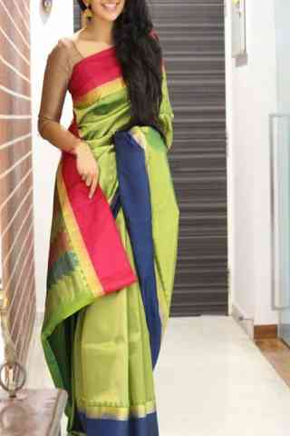 Stylish Multi Color Soft Silk Designer Sarees - SB1044  30""