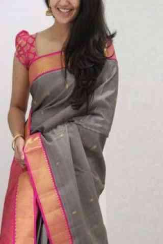 """Exclusive Grey Color Soft Silk Designer Sarees-SB1072  30"""""""