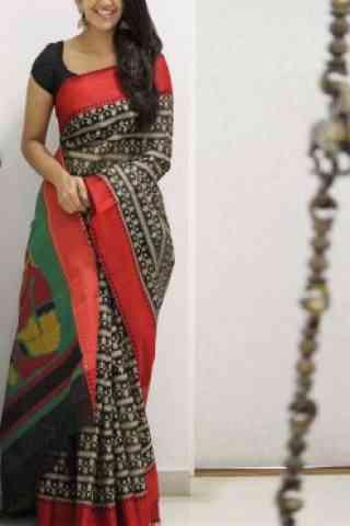"Royal Multi Color Soft Silk Saree - SB1076  30"""